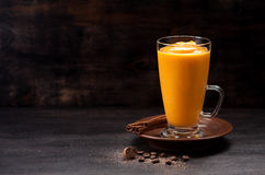 Spice pumpkin smoothie Royalty Free Stock Photography