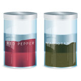 Spice - red pepper and marjoram-vector added Royalty Free Stock Images