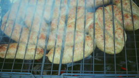 Spice sausage barbeque stock footage
