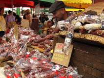 Spice sausages Stock Photos