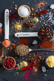 Spice selection from all around the world Stock Photos
