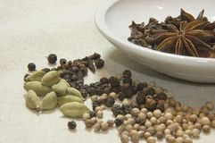 Spice Selection with a boal stock photography
