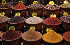 Spice seller Stock Images