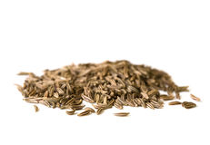 Spice series - caraway seeds isolated on white 2 Stock Images
