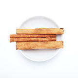 Spice series: Cinnamon sticks Stock Photos