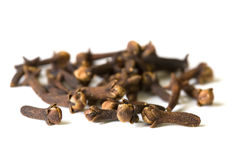 Spice series - dried cloves on white surface 2 Stock Image