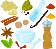 Spice set Stock Image