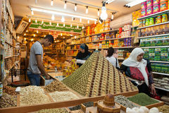 Spice shop in jerusalem israel Royalty Free Stock Image