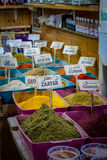The spice shop, market in Old City of Jerusalem. Spice shop on Arab market in Old City of Jerusalem, Israel Royalty Free Stock Photography