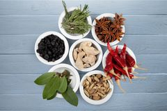Spice. Food curry powder food and drink seasoning variation pepper Stock Images