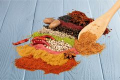 Spice. Indian culture india food curry powder variation condiment Stock Photo