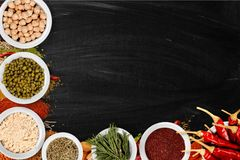 Spice. Indian culture pepper food ground cinnamon curry powder Stock Image