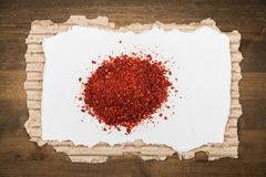 Spice. Saffron gourmet pepper cinnamon food backgrounds Stock Images