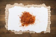 Spice. Saffron gourmet pepper cinnamon food backgrounds Stock Photography