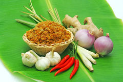 Spice. S on  banana leaf Royalty Free Stock Photography