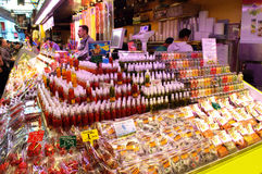 Spice stand at Barcelona market Stock Image