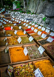 Spice Stand At Chateau Eza. Vendor spice stand at Chateau Eza in Eze, France Stock Photo