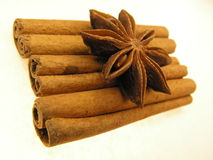 Spice sticks and star Stock Photography