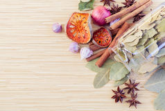 Spice taste with copy space. Food Cooking ingredients. - spice taste with copy space Stock Photo
