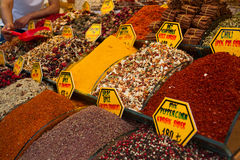 Spice and tea market in Istanbul Turkey Stock Images