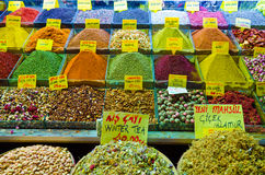 Spice and tea shop in Egyptian Spice Bazaar Stock Photography