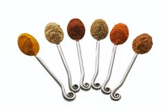 Spice Teaspoons Royalty Free Stock Photography