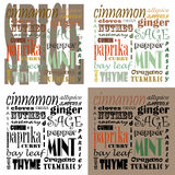 Spice Text Art - Set of 4 Stock Photos