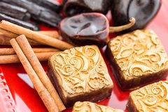 Spice truffles stock photo