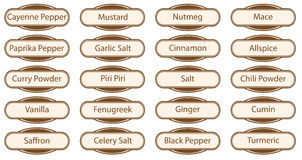 Spice Web Buttons Royalty Free Stock Images