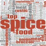 Spice word cloud Stock Images