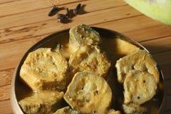 Spiced сырцовое карри банана от Индии Стоковое Фото