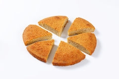 Spiced almond cake. Cut into slices Stock Images