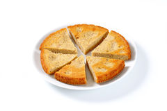 Spiced almond cake. Cut into slices Stock Photo