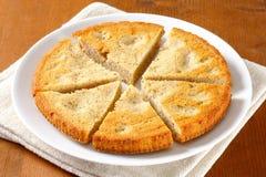 Spiced almond cake. Cut into slices Stock Photos