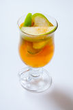Spiced apple cider. Hot cocktail in the glass Royalty Free Stock Photo