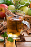 Spiced apple cider in a mug Stock Image
