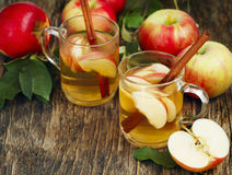 Spiced apple tea Stock Image