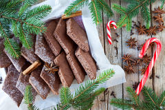 Spiced Biscuits And Candy Cane Royalty Free Stock Image