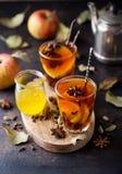 Spiced black tea with apples Royalty Free Stock Photos