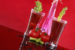 Spiced Bloody Mary or tomato juice Stock Images
