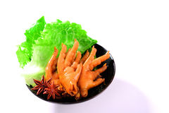 Spiced chicken feet Royalty Free Stock Image