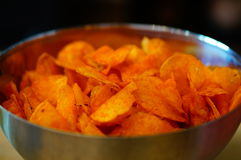 Spiced chips Stock Image