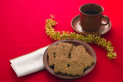 Spiced Christmas Biscuits Stock Images