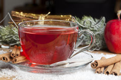 Spiced Christmas Tea Royalty Free Stock Photography