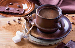 Spiced coffee in ceramic cup Stock Photo