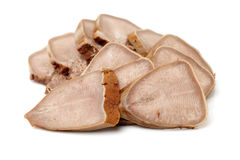 Spiced corned pork tongue Royalty Free Stock Photos