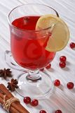 Spiced cranberry drink Stock Image