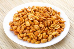 Spiced fried Peanuts-. A popular all time snack Royalty Free Stock Photography