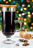 Spiced hot wine - christmas drink Stock Photos