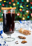 Spiced hot wine - christmas drink Royalty Free Stock Images